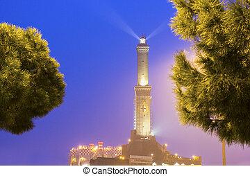 Lighthouse of Genoa, Italy