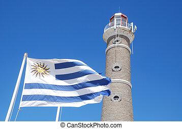 Lighthouse of José Ignacio, Maldonado, Uruguay. Construction dates from 1877.