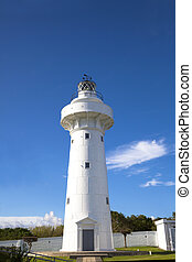 lighthouse of kenting national park in taiwan