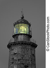 Lighthouse of Matxitxako in black and white