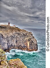 Lighthouse of Sagres, Portugal in HDR