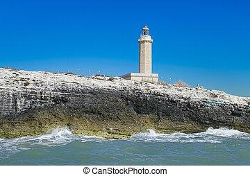 Lighthouse of Santa Maria di Leuca, Salento, Apulia, Italy.