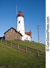 Lighthouse of Urk, a fishing village in the Netherlands
