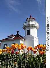 Lighthouse - Old lighthouse in spring