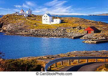 Lighthouse on island