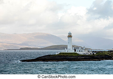 Lighthouse on Isle of Mull - Scottish Lighthouse on the...