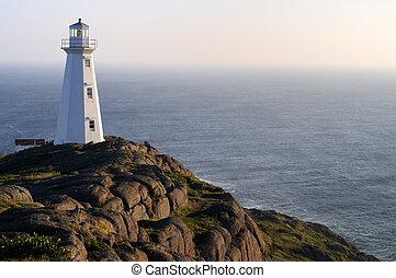 Sunrise At The Newer Cape Spear Lighthouse Newfoundland Canada