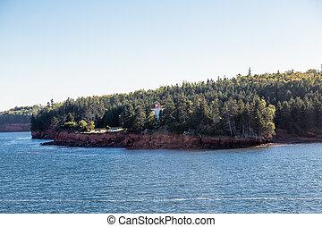 Lighthouse on Shore of Prince Edward Island