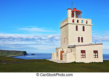 Lighthouse on the Cape Dirholaey