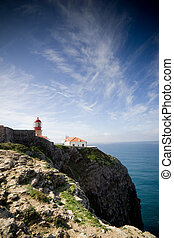 Lighthouse on the cliffs - The lighthouse at Cape Saint ...