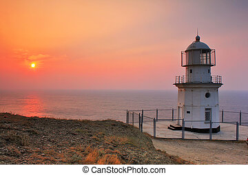 Lighthouse on the coast