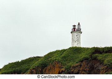 Lighthouse on the coast of Avacha Bay