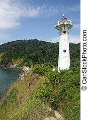 Lighthouse on the island of Koh Lanta in Thailand