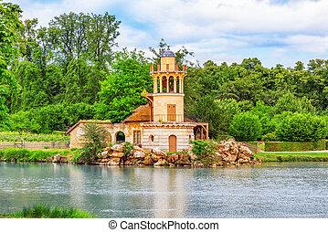 Lighthouse on the lake in hamlet Queen Marie Antoinette's...