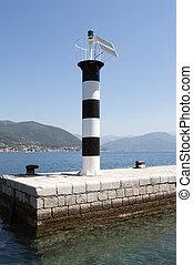 lighthouse on the sea