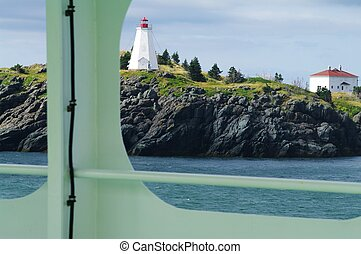 Lighthouse on the shore of Grand Manan