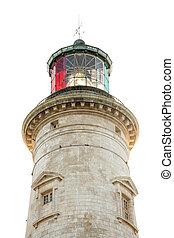 lighthouse on white