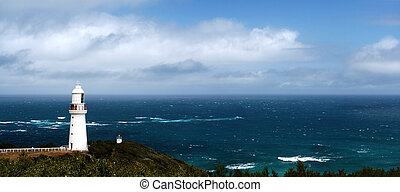Lighthouse Panorama - Lighthouse at Cape Otway, Victoria,...