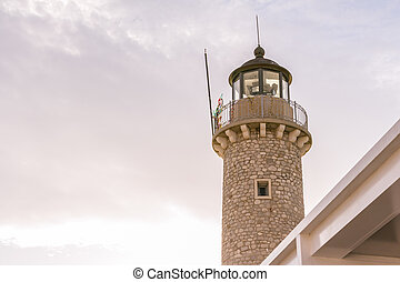 Lighthouse Patras, Peloponnese, Greece - Lighthouse in the ...