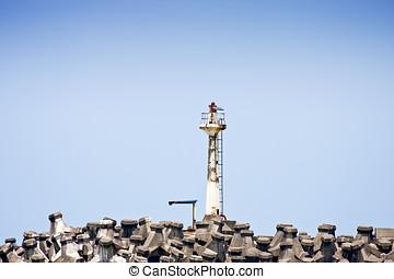 lighthouse - white lighthouse on Seashore