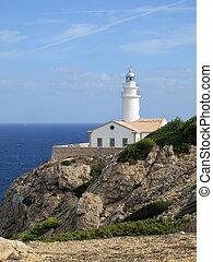 The lighthouse Punta de Capdepera, Majorca, Balearic Islands, Spain