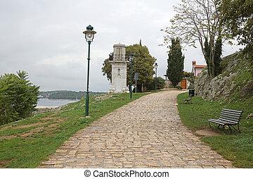 Lighthouse Rovinj - Old Stone Lighthouse Landmark In Rovinj...