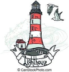 Lighthouse Sketch Illustration
