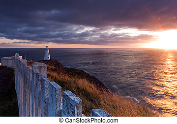 Lighthouse Sunrise - Cape Spear lighthouse, Newfoundland,...
