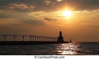 Lighthouse Sunset Loop - Loop features a beautiful sunset...