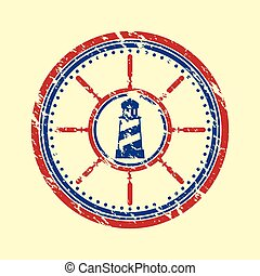 Lighthouse symbol grunge
