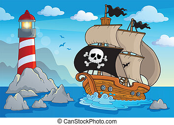 Lighthouse theme image 5 - eps10 vector illustration.