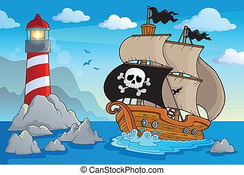 Lighthouse theme image 5 - eps10 vector illustration.