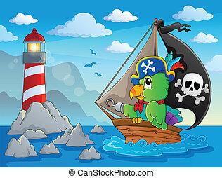 Lighthouse theme image 7 - eps10 vector illustration.