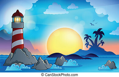 Lighthouse theme image 9 - eps10 vector illustration.