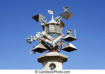 Lighthouse Tower art sculpture, Swansea, South Wales, UK