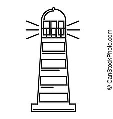 lighthouse tower guide icon