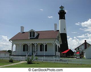 Tybee Island lighthouse photographed at Tybee Island Georgia.