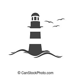 The Lighthouse Vector Clip Art EPS Images 1096