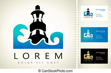 lighthouse vector logo building design