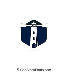 Lighthouse vector logo design.