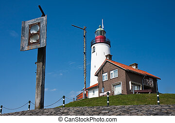 Lighthouse wit old foghorn - Lighthouse with old foghorn of ...