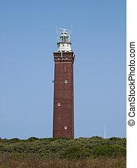 lighthouse with a blue sky
