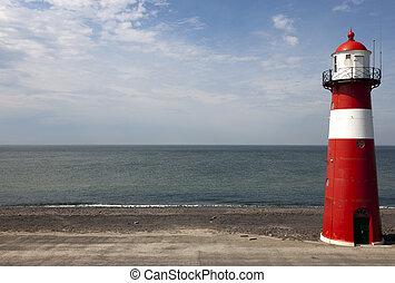 lighthouse with blue sky