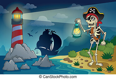 Lighthouse with pirate theme 1