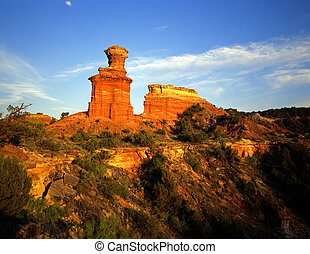 LightHouseFormation - The Lighthouse Formation in Palo Duro...