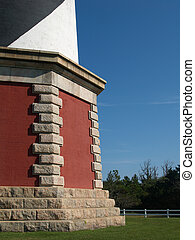 LighthouseFoundation - Base of lighthouse with green grass