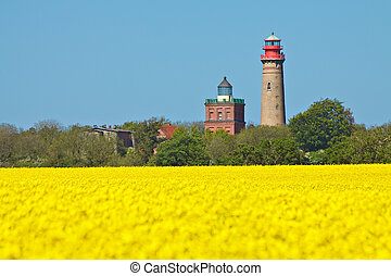 Lighthouses in Cape Arkona (Germany).