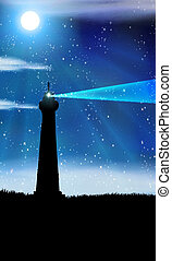 lighthouses background with place for text