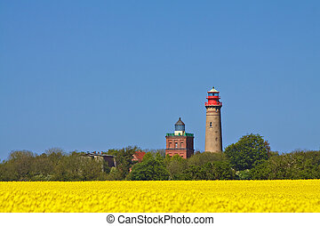 Lighthouses of Cape Arkona (Germany).
