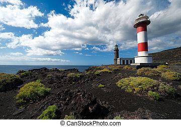 Lighthouses, Punto de Fuencaliente, La Palma, Canary islands...